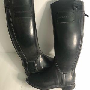 Burberry Tall Rain Boots Black size 38